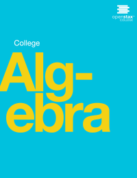 cover of college algebra textbook
